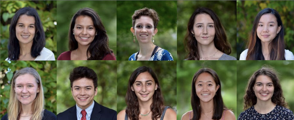 The team of students tasked with creating this year;s banner. Top row, from left to right: Yasmin Bergemann '20, Eva Brander-Blackhawk '20, Juliette Glass '20, Eva Illuzzi '20, Cici Liu '20. Bottom row, from left to right: Lily Kaise '20, Burton Lyng-Olsen '20, Julia Tellides '20, Olivia Wen '20, Anna Zimolo '20. Photos courtesy of Highpoint Pictures.