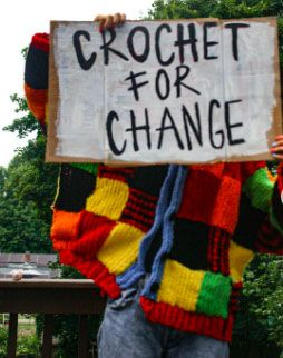 "Talia Chang '22 launches her ""Crochet for Change"" fundraiser for the National Black Justice Coalition."