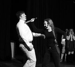Emily McDonald '15 and John Josephson '15 star in the student-directed One Acts in 2014. (hopkins.edu)