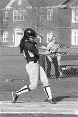 Yin hits during a game last year against Choate. (photo: Peter Mahakian)