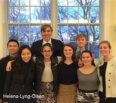 Hopkins Model UN Committee Chairs pose for a picture at their home conference.