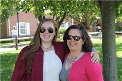 Carla MacMullen, Dean of Faculty, (right) with her daughter, Avery '16 (left).