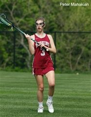 Lydia McGrath '17 looks to pass in a game