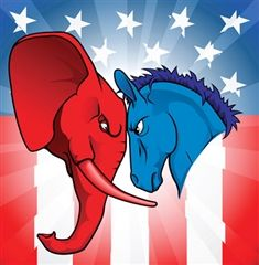 The Republican Elephant and the Democratic Donkey are often pitted against each other, just as different opinions butt heads on The Hill.