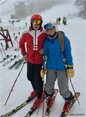 Captain Libby Gardner '18 hits the slopes with older brother Colby Gardner.