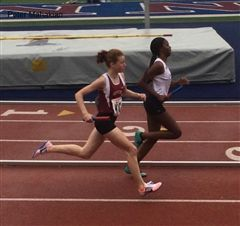 Madeleine Walker '19 competes at the Penn Relays.