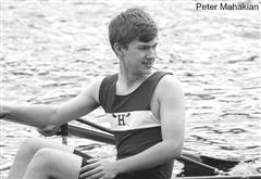 Along with using fountain pens, Hutchinson '21 also enjoys rowing on the Hopkins Crew Team.