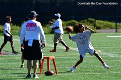 A DTD athlete at practice. Visit dominatethedayfoundation.com for more photos.