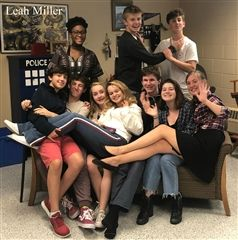 The cast of Daniel Rocket hangs out in between rehearsals.