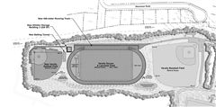 Plans for new track and softball field, projected to be completed by summer 2019.