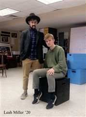 Peter Graham '20 and Griffin Congdon '20 caught in character during rehearsal.