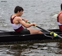 Theo Tellides'19 put in hard work erging, which transferred to his success on the water.