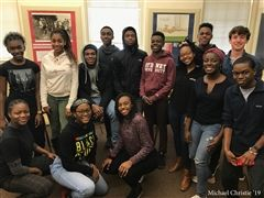 Black Student Union (BSU) poses for their club photo.