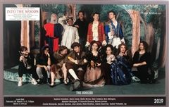 Into the Woods was the final Hopkins musical for fourteen seniors, thirteen of whom are pictured here.