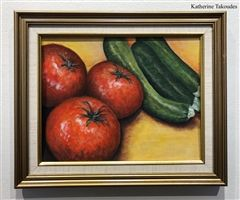 Gabby Gerstenfeld displays her Still-Life Series of Close-up Fruits in the Keator Gallery.