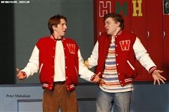 Stratton and Donovan as Ram Sweeney and Kurt Kelly in Heathers: The Musical (High School Edition).