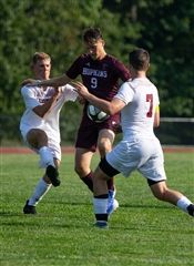 Jack Consiglio '20 dominates the field with his expert soccer skills