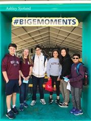 Ninth graders in Ashley Sjolund's advisor group spend time together at the Big E.
