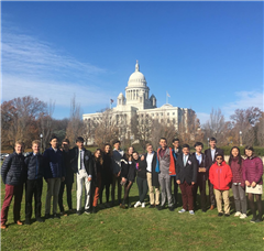 Hopkins students travel to Brown University for a Model UN conferemce