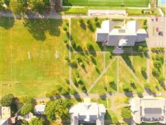 Peter Sachs uses his drone to take aerial photographs of campus.