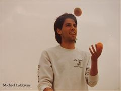 Michael Calderone showed off juggling skills at Rutgers.