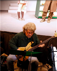 Jim Lawson contributes to the orchestra during the 2018 production of Heathers.  Credit: Peter Mahakian