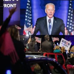 President-elect Joe Biden gives acceptance speech at drive-in victory rally in Wilmington, Delaware
