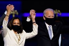 President-elect Joe Biden and Vice President-elect Kamala Harris celebrate their victory on Saturday November 7, 2020.
