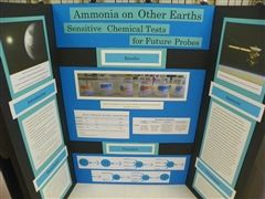 Science Fair projects were displayed in the DiMeo Library on February 8