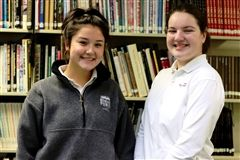 Aerin McLaughlin '21 and Anna Weingart '21