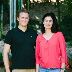 Otis Chandler '96 and his wife Elizabeth Khuri Chandler. (Photo courtesy of Nick Walker)