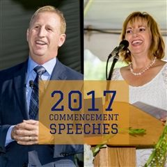 Steve Shenbaum '88 and Coleen Martinez '86 were Webb's 2017 commencement speakers.