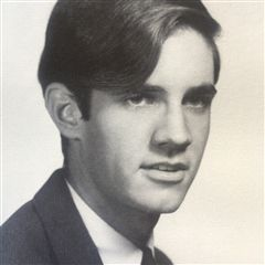 Price Paschall '67 during his senior year at Webb.