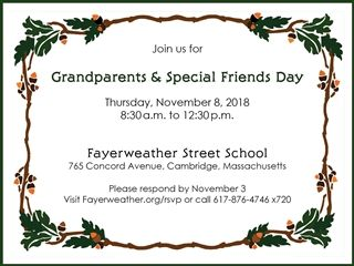 Grandparents & Special Friends Day