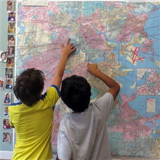 Us On the Map (Grades 1 & 2)