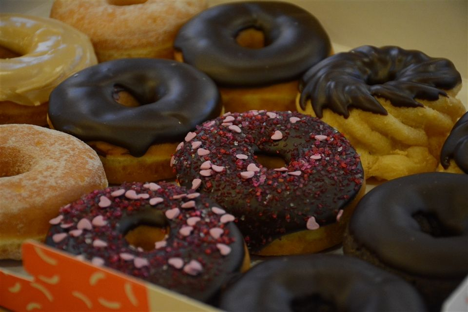 Assorted donuts from Dunkin.