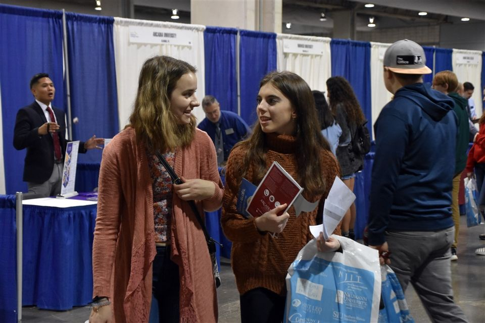 The Grier Junior class attended an NACAC College Fair in Pittsburgh, Pennsylvania