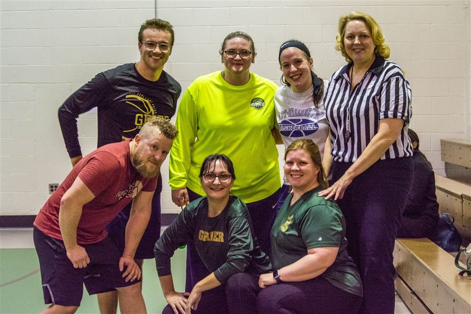 Faculty members include the team coaches Mr. Wilson and Ms. Wyland, along with Mrs. Hallahan, Mrs. Davis, Mr. Lang, Mrs. Shaffer, and Mrs. Brubaker.