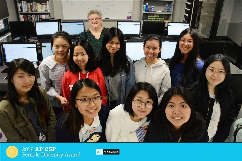 Grier School Earns First College Board AP Computer Science Female Diversity Award for Achieving High Female Representation in AP Computer Science Courses