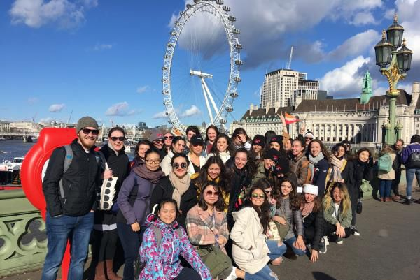 Welcome to Europe! Welcome to London! The group began their tour with proper English tea. Then, they saw Parliament Square, Westminster Abbey, and a glimpse of Big Ben's clock tower. Next: the amazing London Eye. Finally, dinner close to St. Paul's Cathedral.