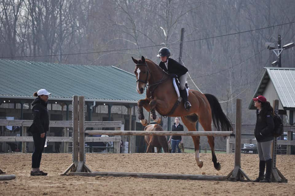 The Varsity hunt seat team traveled to the Prince George Equestrian Center in Maryland this past weekend for an AA-rated Hunter Jumper show.