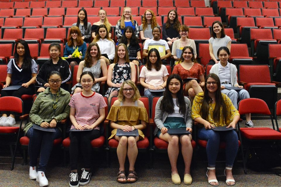 In a special all-school assembly on Monday, May 20th, the Grier chapter of the National Honor Society inducted twenty new members. These individuals exemplified the four pillars of NHS: Scholarship, Leadership, Service, and Character.
