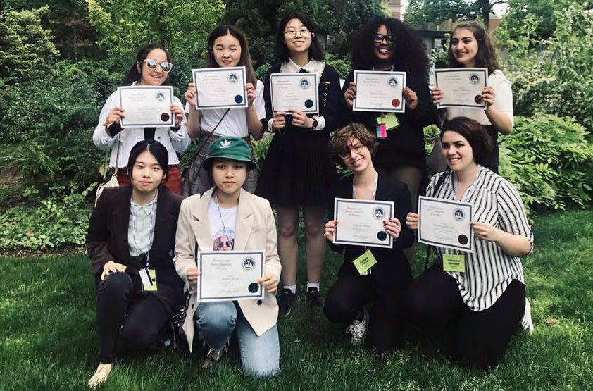 Congratulations to the students who participated in the state level competition of the Pennsylvania Junior Academy of Science (PJAS). Isabella F., Cindy W., Judy L., and Vivian Y. all received first place awards for their projects. Yasmin G., Betsi D., Celine J., and Gia S. each took home second place awards. Great job!