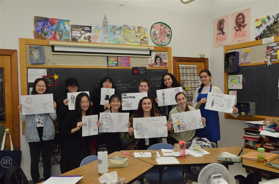 Juniors in Ms. Barr's British Literature class created their own pilgrim prologues as part of a small project during the class unit on Geoffrey Chaucer's Canterbury Tales.