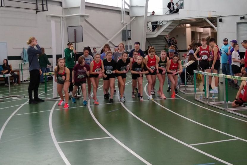 Edie hits two pesonal best times at the Slippery Rock All Comers Invitational indoor track meet.