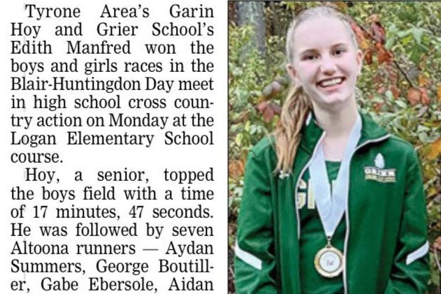 Edie appears in the Altoona Mirror.