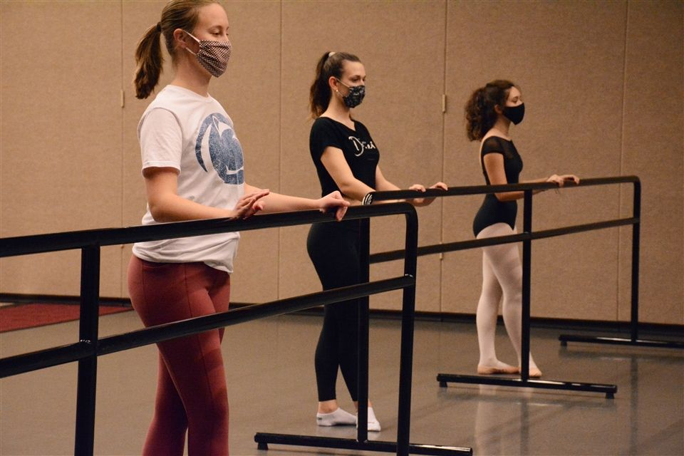 Abby at the barre in Danielle's Beginner Ballet class.