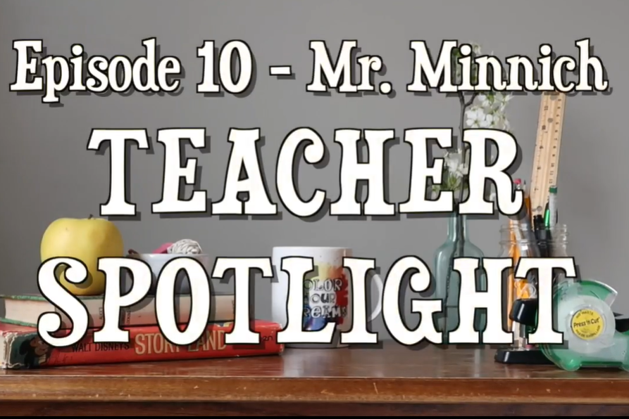 Orchestra director Mr. Minnich appears in episode 10 of Grier TV's Teacher Spotlight series, hosted by Edith M.