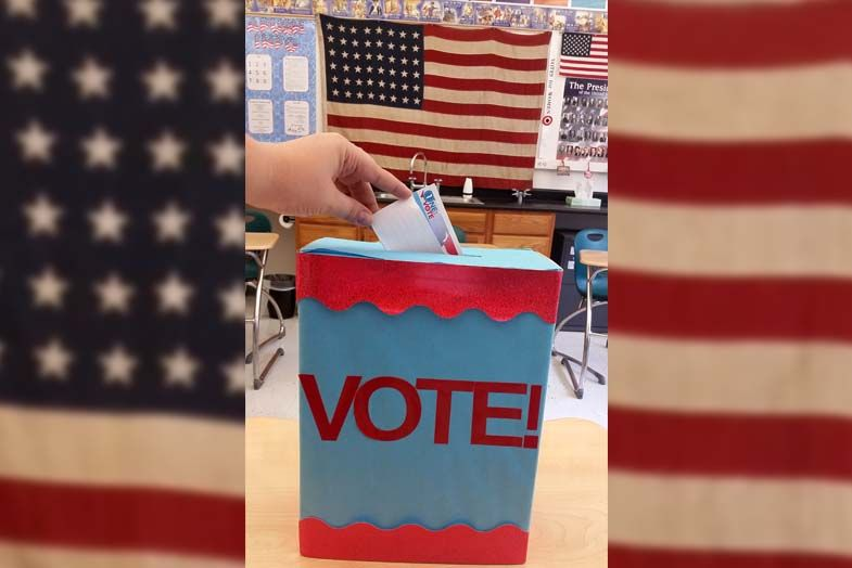 The ballot box in Mrs. Salyards' classroom.