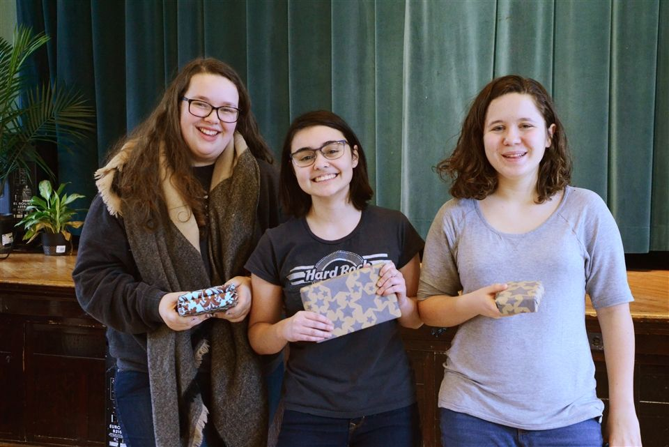 Winners: Grace (1st), Katie (2nd), and Mary (3rd)